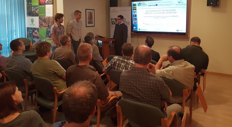 Mecsekerdő Zrt. organised a workshop with the title: Forestry Applications of Airborne Remote Sensing Techniques